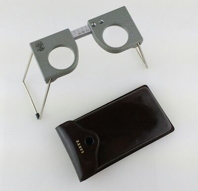 Lietz Stereo Magnifying Lens Model 8179 -50 SOKKISHA JAPAN Leather Case