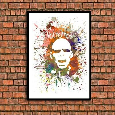 Voldemort  a4 glossy poster Print picture,gift watercolour wall art unframed