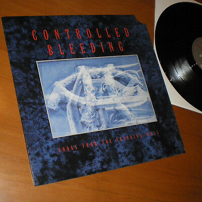 """Controlled Bleeding - Songs From The Grinding Wall EP Vinyl 12"""" USA 1989"""