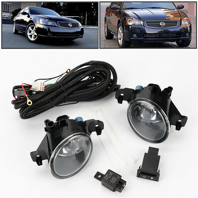 Pair w/Switch Clear Front Bumper Fog Lights Lamp for 2005-2006 Nissan Altima JDM