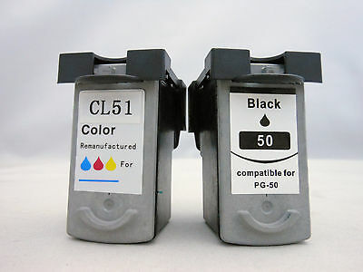 Ink Cartridge for Canon iP6310d iP6210d MP460 MX310 MP450 PG50 BK CL51 Color 2PK
