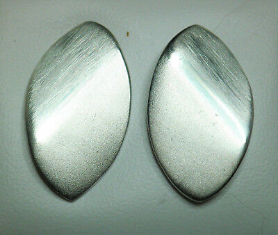 925 Silver textured oval stud earrings 20mm x 11mm on Posts