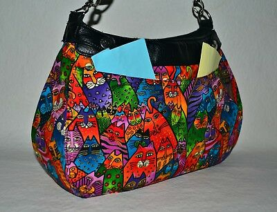 31 Thirty One SUITE SZ Custom Made SKIRT w-2 Pockets~Laurel Burch Fabric~NOPurse