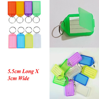 Click Tags Key Tags Keyrings Mix Colour Plastic Id Name Label5 10 25 50 100 200