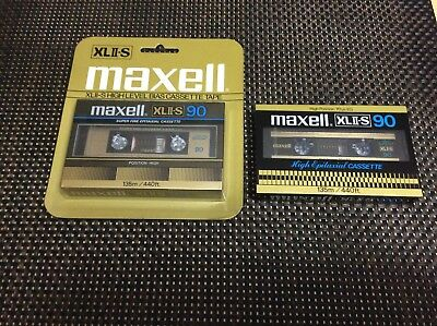 TWO MAXELL  XLII-S 90 cassette tapes all SEALED and brand new JAPAN