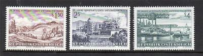 Austria Mnh 1971 Sg1623-1625 25 Years Of Nationalized Industries