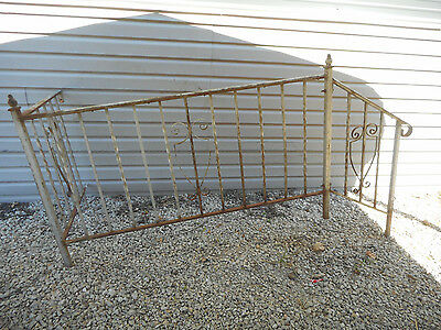 "VTG Architectural WROUGHT IRON PORCH HAND RAIL TOTAL 6' 10"" LONG"