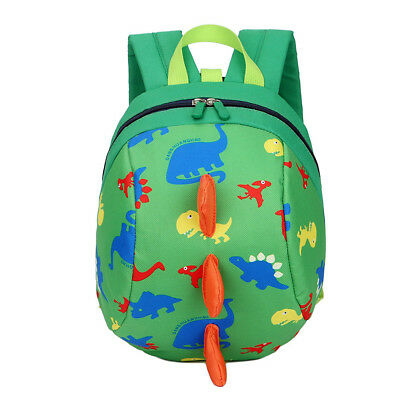 Child Toddler Baby Safety Harness Reins Backpack Anti-lost Dinosaur Cartoon Bags