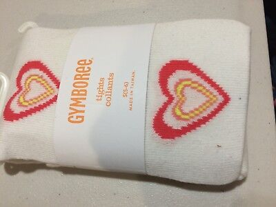 NWT Gymboree girls tights Heart Play by Heart 4, 5-6