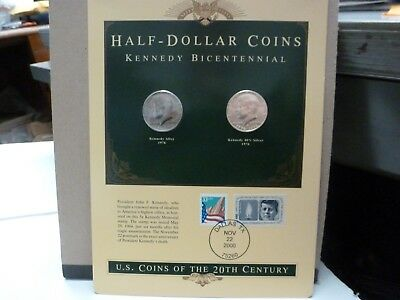 U.S. Coins of the 20th Century Kennedy Bicentennial Half Dollar Coins