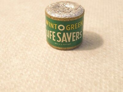 Vintage Old 1960's Unopened Sample Roll of Wint O Green Life Savers Candy