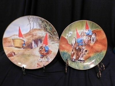 2 Legends of the Gnomes Plates by Rien Poortvliet 1983