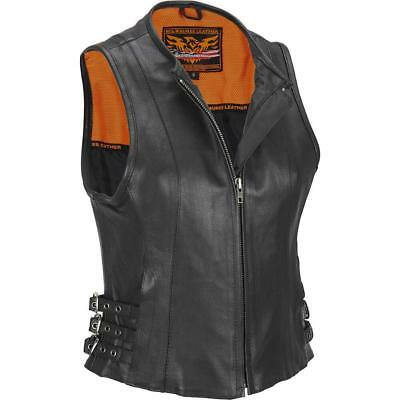 Wilsons Leather Womens Web Buster Milwaukee Leather Vest W/ Side Buckles