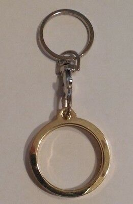 Aa Keychain Alcoholics Anonymous Chip Medallion Gold Coin Holder Brand New