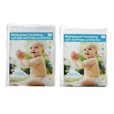 Baby Cotbed Cot Mattress Protector Cover Waterproof Fitted Sheet 120x60 140x70