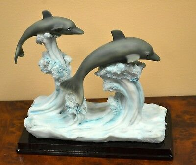 Dolphin Statue-Hand Painted