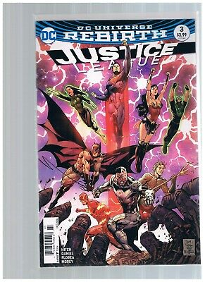 Dc Justice League # 3 Rebirth Newsstand Tony Daniel Combined Shipping Bag/board