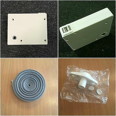 White Roller Shutter Winder Box With 5M Strap + Adjustable Diamond Shaped Guide!