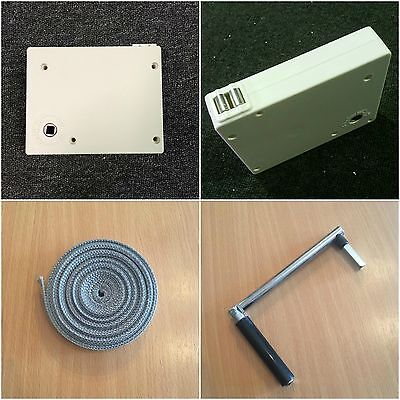 New White Roller Shutter Winder Box With Strap And Handle * Standard Post*