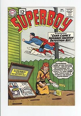 SUPERBOY #93 - GORGEOUS  and SOLID NM+ 9.6 - EARLY LEGION OF SUPERHEROES 1961