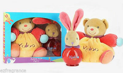 Kaloo Pop Cologne Spray 100 ml./ 3.4 Fl.oz Alcohol Free+Kaloo Pop Rabbit Set.New