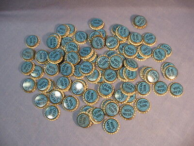 Lot of 90 vintage unused Cream Soda cork lined bottle caps