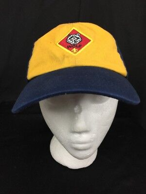 Boy Scout Of America Wolf Twill Blue Gold Hat Cap Sz M/L