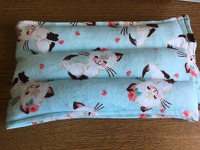 rice heat pad hotcold shoulder neck wrap pack LONG 21x6 microwave THERAPY CATS