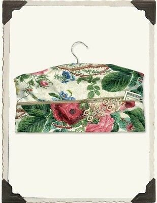 Victorian Trading Co Chintz Roses Closet Safe Travel Hanger Free Ship NIB