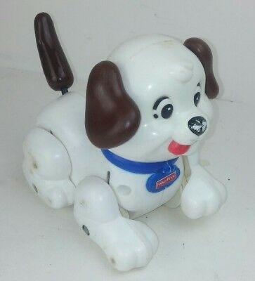 Fisher Price FP Lil Snoopy Pull Toy White Dog Black Spots Barking Move H9447