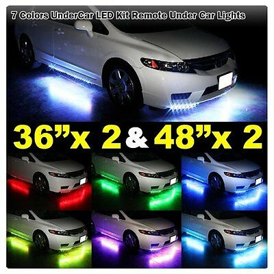 7 Color LED Strip Under Car Tube underglow Underbody System Neon Lights Kit OY  sc 1 st  PicClick : undercar lighting - www.canuckmediamonitor.org