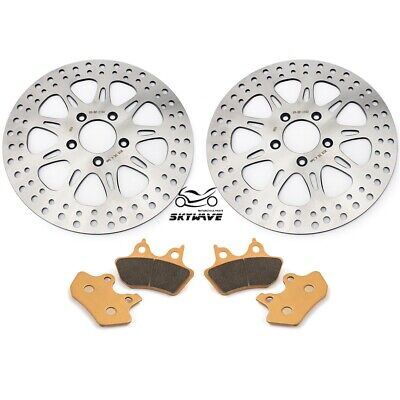 "11.5"" Front Brake Discs Rotors Pads For Harley Sportster XL 883 R 2000-2003"