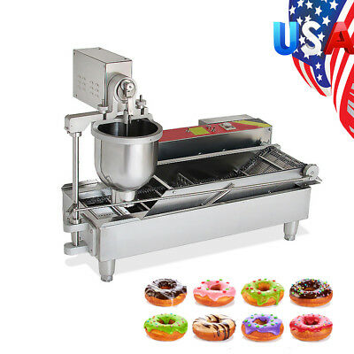 Commercial Automatic GAS&Electric Donut Making Machine Donut Fryer 6KW DHL SHIP