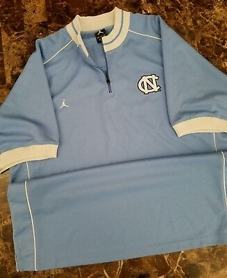 Nike Air Jordan North Carolina Tar Heels Sz XL Warm Up Shooting Shirt Jersey