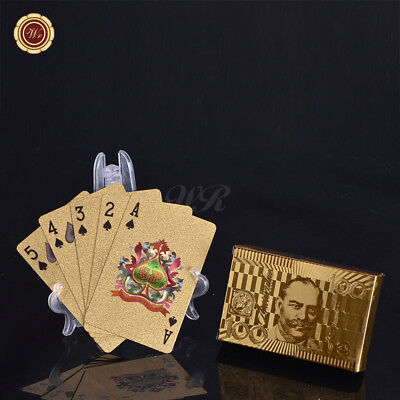 WR Australia $100 Dollar 24k Gold Playing Cards Deck Poker/Casino /w Certificate