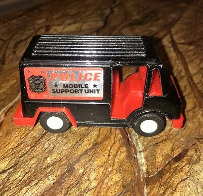 1970 Tootsietoy Diecast Police Mobile Support Unit Panel Truck Nice Usa Nm