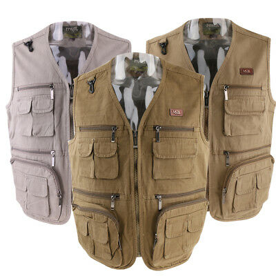 Fishing Vest Multifunction Pockets Waistcoat Jacket Travels Sports Outdoor