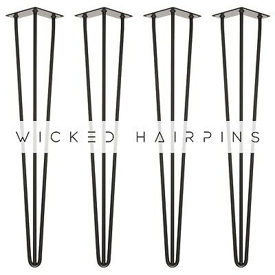 4 x Hairpin Table Legs. Europe's #1 Selling Table Leg In 14 Colours & Copper