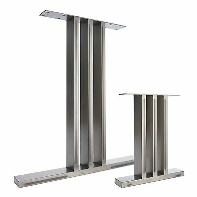 2 x Metal Table Legs & Bench Legs - The I-Beam Design - In Clear Finish & Black