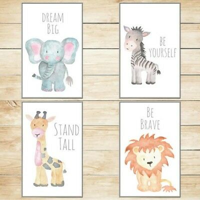 Safari Nursery Decor Wall Art Baby Animal Prints