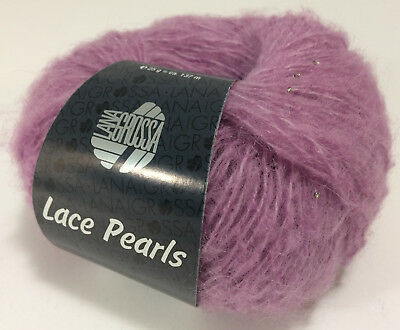 Lana Grossa Lace Pearls 25 gramm Farbe 15 lavendel