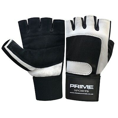 Pro fitness gym body building weight training, lifting wrist support  gloves 106