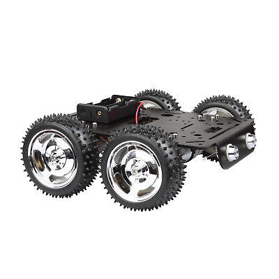 4WD Off-Road Robot Smart Car Chassis Kit DC 9V Hall Speed Motor Aluminum Alloy