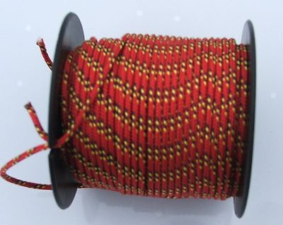 Dyneema line 2mm diameter 20m reel - colour red  with fleck, yellow with fleck