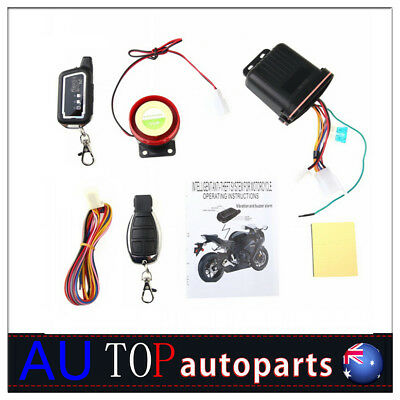 2 Way Motorcycle Alarm System Remote Engine Start Anti-theft Security Alarm TB2