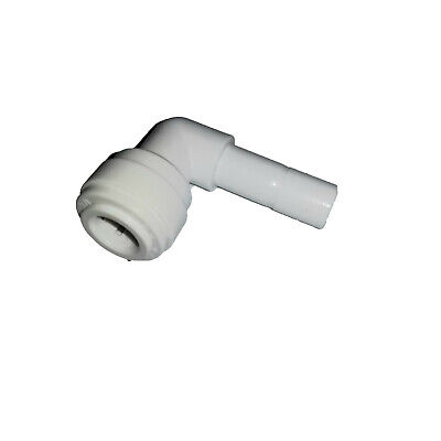 "3/8"" John Guest-Style, Plastic Push Fit, 3/8"" Stem Elbow, 90, RO"