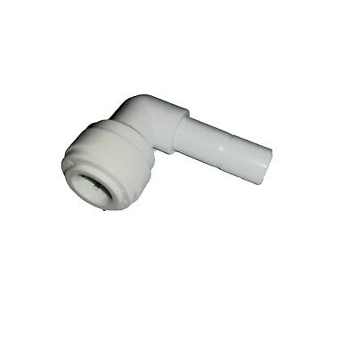 """3/8"""" John Guest-Style, Plastic Push Fit Quick Connect, 3/8"""" Street Elbow, 90, RO"""