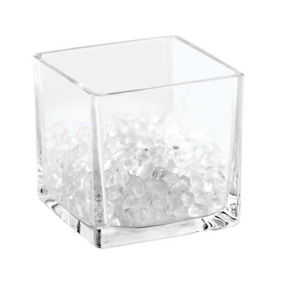 """Interdesign #25540 Bella 3"""" Square Clear Cosmetic Organizer with Beads"""