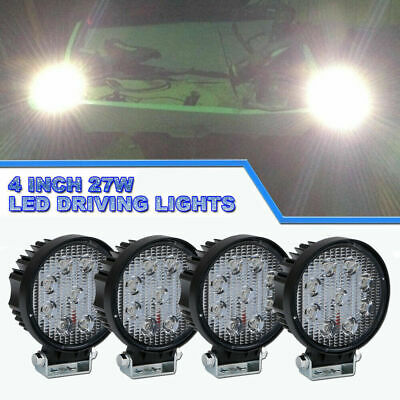 4x 27watt LED Worklight Flood Lamp for jeep Boat Tractor Offroad UTE 4WD 27w