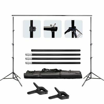 Photography Background Support Stand Photo Backdrop Crossbar Kit Adjustable OY